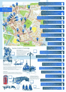Fold out Cambridge Blue Plaque Map